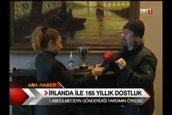 On TRT (Turkish national TV) with reporter Meltem Koc