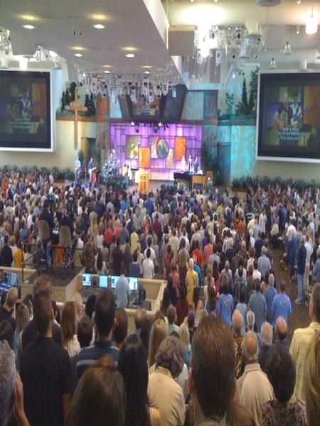 worshipping at Saddleback Church in Lake Forest  http://bit.ly/19Emqo